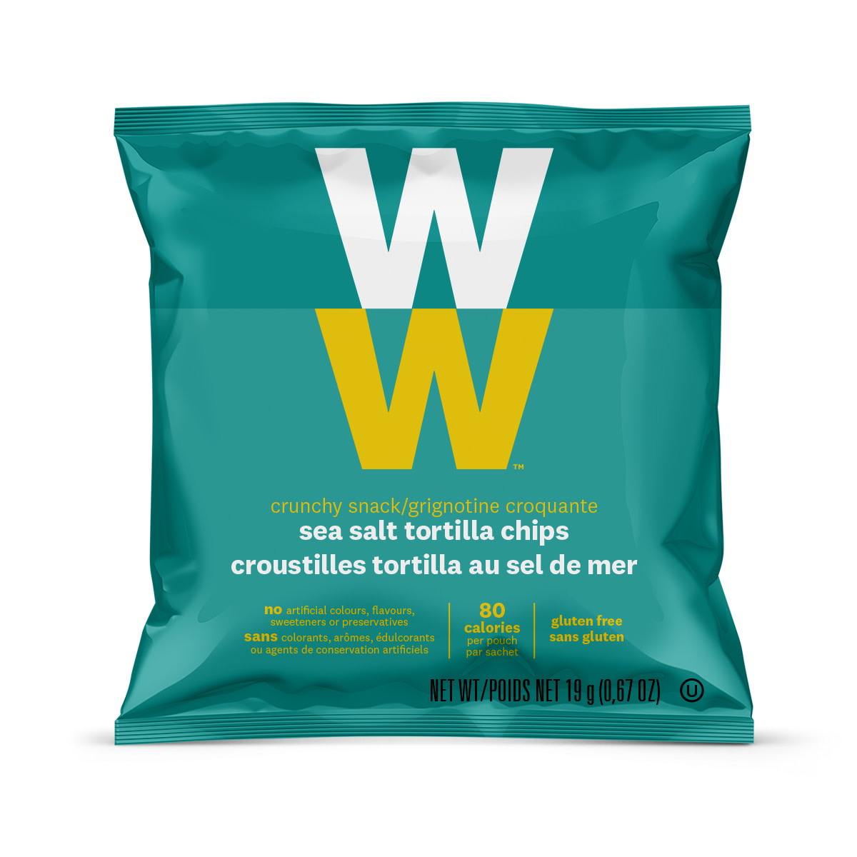 Sea Salt Tortilla Chips - front of the pouch