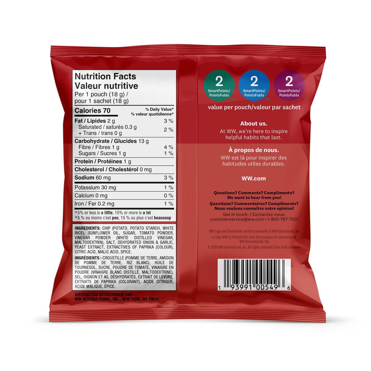Ketchup Potato Crisps - Pack Back