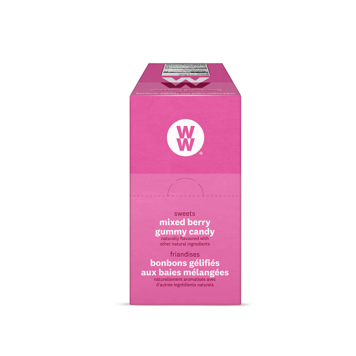 WW Sweets Mixed Berry (Box of 12) - side of the box