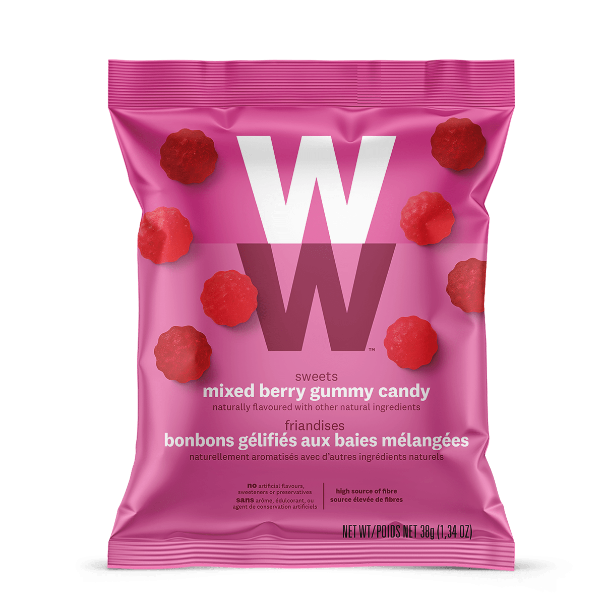 WW Sweets Mixed Berry (Box of 12) - front of the pouch