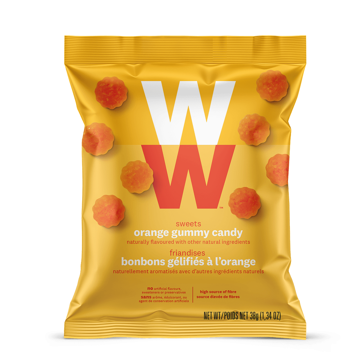 WW Sweets Orange (Box of 12)  - front of the pouch