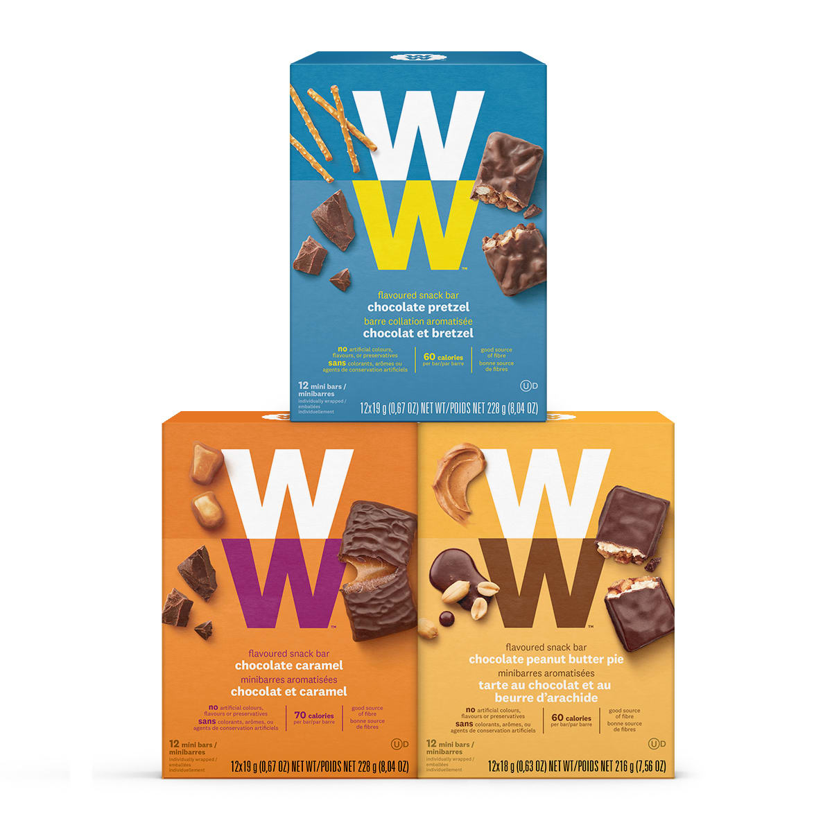 Chocolate Lovers Mini Bar Three Pack Front