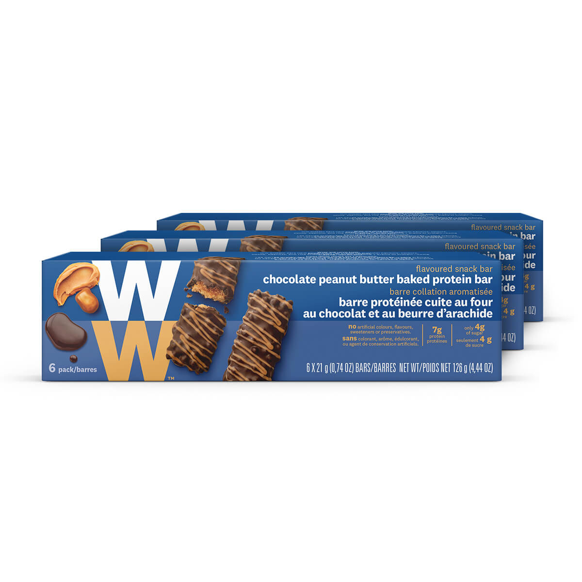 Chocolate Peanut Butter Baked Protein Bar (3 Pack)