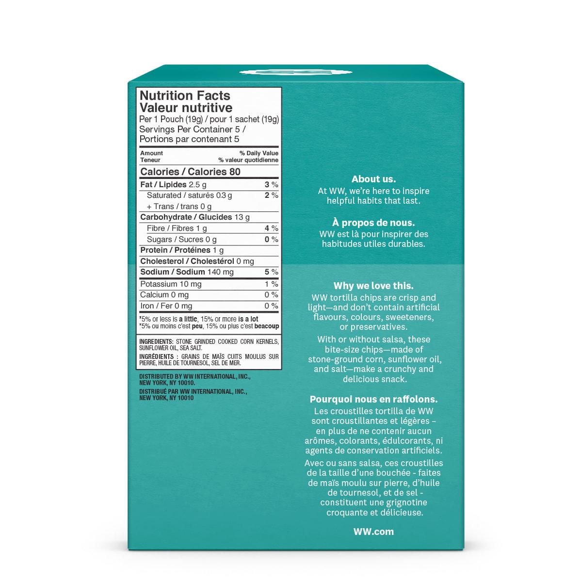 Sea Salt Tortilla Chips - side 2 of the box