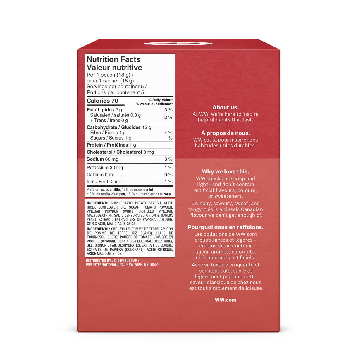 Ketchup Potato Crisps - Box Back
