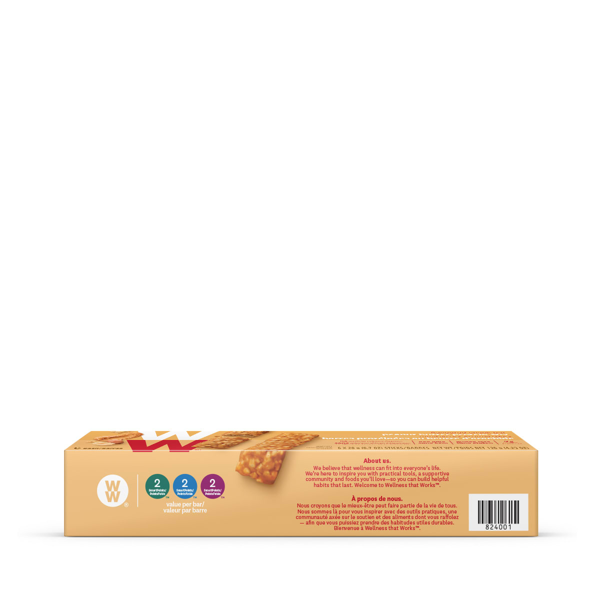 Peanut Butter Protein Stix - side of the box