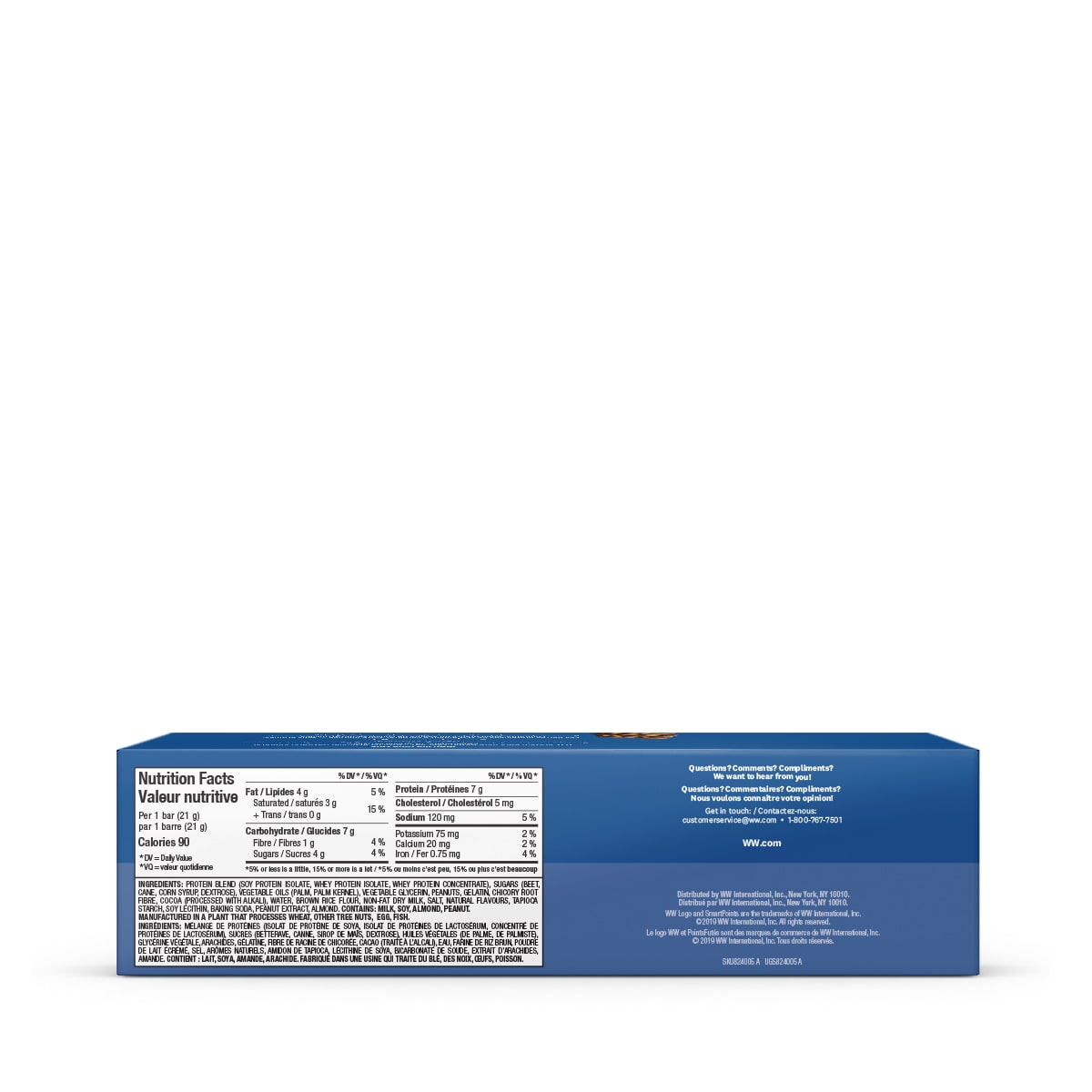 Chocolate Peanut Butter Baked Protein Bar (3 Pack) - back of box