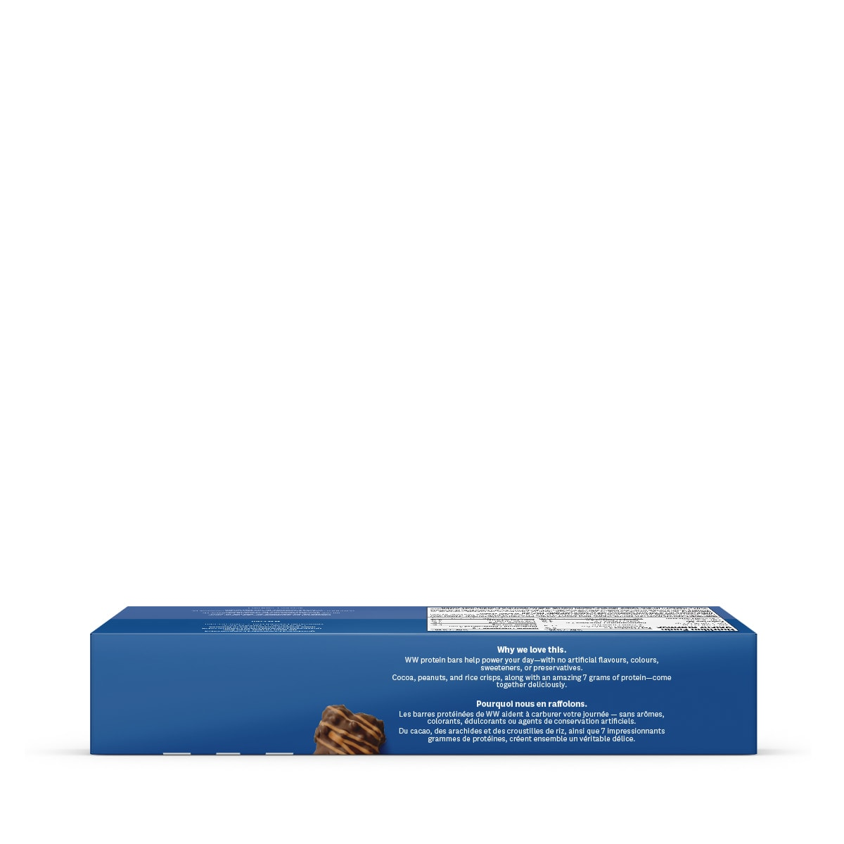 Chocolate Peanut Butter Baked Protein Bar - side 1 of the box