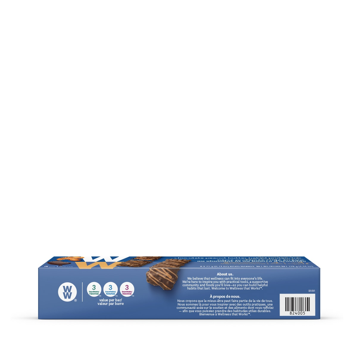 Chocolate Peanut Butter Baked Protein Bar (3 Pack) - side of box