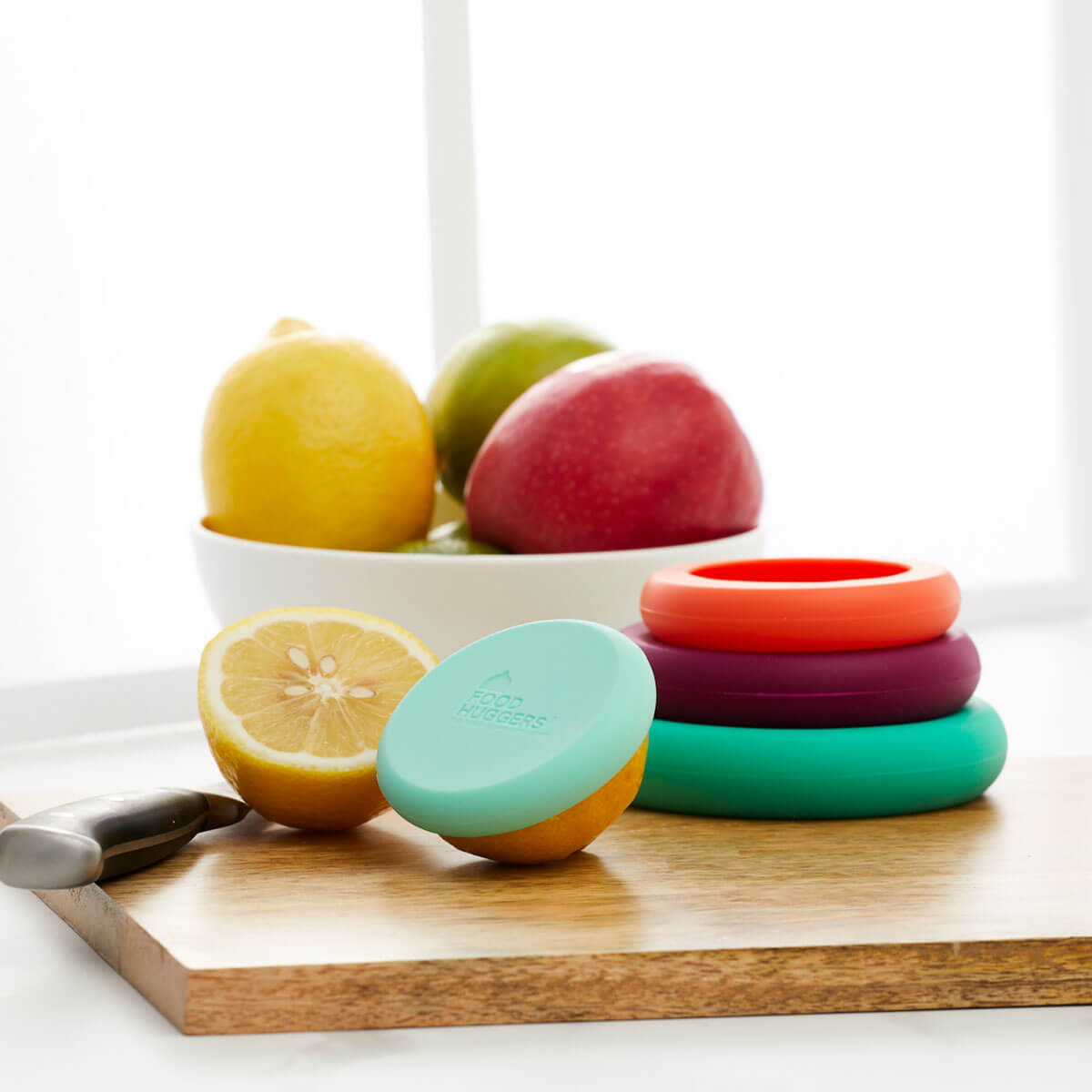 Silicone Food Huggers - lifestyle