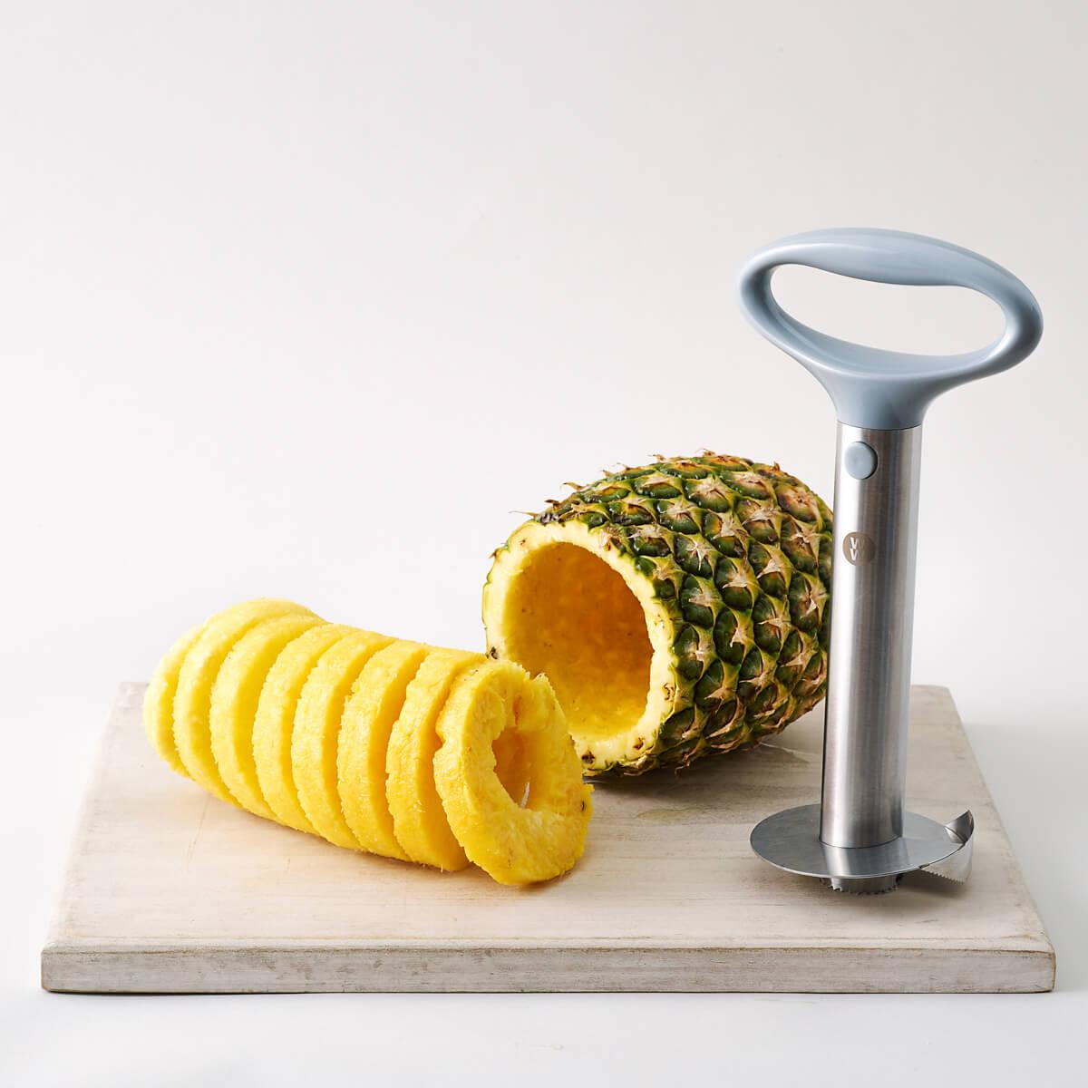 Stainless Steel Pineapple Corer & Slicer - Use Shot