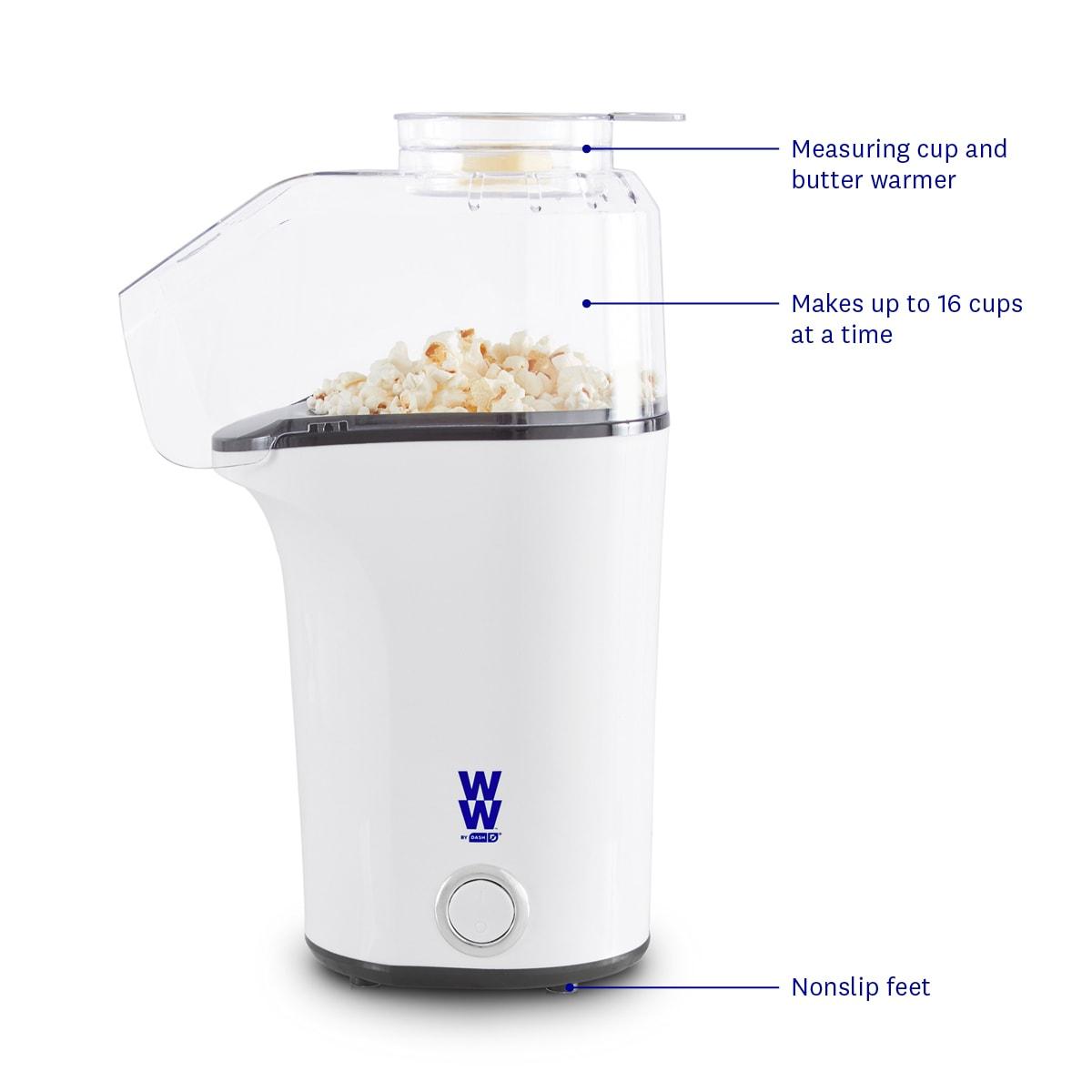 WW by Dash Fresh Pop Popcorn Maker - side callouts